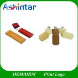 Mecanismo impulsor de madera del USB del eslabón giratorio del palillo de la memoria del USB