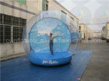 Гигантский раздувной глобус снежка, людской глобус снежка размера для рекламировать