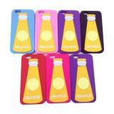 tampa inferior personalizada 3D colorida do leite da caixa do silicone do iPhone 6s