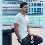 Último diseño 100% algodón camisas de verano para hombres cuello redondo camiseta de manga corta