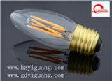 Bulbo da vela do diodo emissor de luz de E14 220V/110V 3W C9, TUV/UL/GS