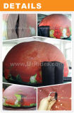 공간 덮개를 가진 빨간 팽창식 플라네타륨 돔 천막