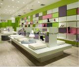 Повелительница высокие накрененные ботинки способа и витрина стеллажа для выставки товаров ботинок/мебель, конструкция магазина ботинка женщины