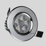 9W lámpara de interior del techo del proyector del aluminio LED para la iluminación interior
