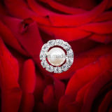 Van het Belangrijkste van de Broche van het Bergkristal van de parel de Bruids Juwelen Boeket van het Huwelijk