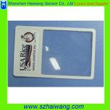 Fördernde Geschenk-China-fabrikmäßig hergestellte Gutschrift in Scheckkartengrößebelüftung-Vergrößerungsglas-Objektiv mit kundenspezifischem Firmenzeichen