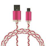 Cable de carga del USB de los accesorios del teléfono móvil con la luz del LED para los dispositivos móviles
