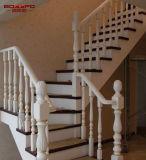 Escaliers en bois de chêne solide d'utilisation de villa avec la balustrade (GSP16-001)