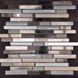 Losa de piedra y metal mixto de la tira tipo mosaico del piso