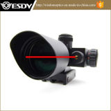 Optical Tactical Riflescope 2.5-10X40e con vista láser verde y rojo