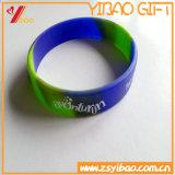 Braccialetto di gomma del silicone della fascia della mano di marchio personalizzato alta qualità