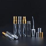 botella de perfume de cristal 5ml con el rociador de la niebla de Aluminun