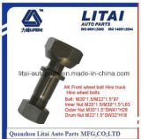 Kanter-rechts Wheel Bolt mit Hoch-Stärke Quality, M19*1.5/M20*1.5*87 mm