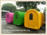 Restaurant mobile de chariot de hot dog de panneau galvanisé par Ys-Bf230-3 à vendre