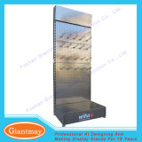 Fußboden-steht stehendes Eisen durchlöcherte Bildschirmanzeige-Regale mit Haken