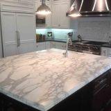 Bancada artificial branca popular da pedra de quartzo para a cozinha