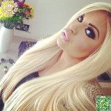 volle Spitze-Perücke des Menschenhaar-613#Blonde/Spitze-Perücke