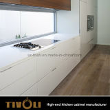 Lustro elevado Painitng e gabinetes da despensa do folheado para a mobília Tivo-0234h da cozinha