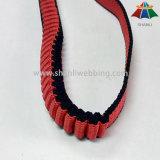 correas elásticos rayadas Rojo-Negras del polipropileno de los 2cm para los correos del animal doméstico