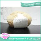Fio de confeção de malhas moderno natural de Handspun da peúga do algodão para o Crochet