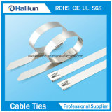 Hoher Tenslie Strichleiter-einzelner Widerhaken-verschlossener Edelstahl-Kabelbinder
