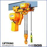 Liftkingの単一の速度1.5 Tのホックの中断が付いている電気チェーン起重機