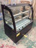 Handelslebesmittelanschaffung-Geräten-Tisch-Oberseite-Kuchen-Schaukasten-Bildschirmanzeige-Gefriermaschine