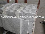Carrara-weiße Marmorfliese, Carrara-Marmor, weiße Marmorfliese