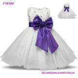 Blumen-Mädchen-Kleider für Hochzeits-Festzug-Weiß-zuerst heiliges Spitze-Kommunion-Kleid für Mädchen-Kleinkind-Juniorkind-Kleid