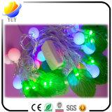 Indicatori luminosi di natale variopinti di festa della decorazione esterna della stringa della sfera del LED