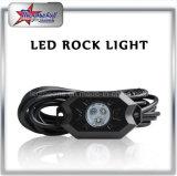 8 luz da rocha do diodo emissor de luz do RGB do Underbody do jogo IP68 9W dos vagens