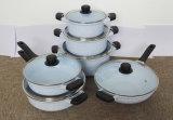 Комплект Cookware керамического покрытия Kitchenware цветастый алюминиевый