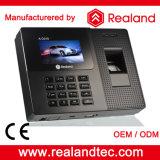 Biometrischer Fingerabdruck-Zeit-Anwesenheits-Maschinen-Preis mit Software und Batterie