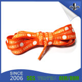 2017 cordones impresos insignia de encargo elástico plana para los zapatos