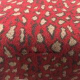 Existencias de la tela de tres de los colores del leopardo de la impresión lanas del telar jacquar