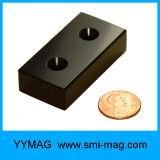 Супер сильный магнит неодимия блока редкой земли с отверстием винта