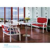 Sofá moderno da sala de estar do frame da madeira contínua da sala de visitas (HW-7400S)