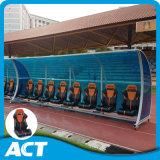 차 직원, 선수 및 레퍼리를 위한 호화스러운 이동할 수 있는 풋볼 팀 대피소 착석