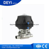 Válvula de diafragma del actuador DN65 Acero inoxidable SS316L Aspetic neumática