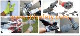 Ddsafety 2017 geschnittenes Widerstand-Handschuh-Sandy-Nitril, das Sicherheits-Handschuhe eintaucht