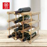12 estante de visualización de madera del vino de la botella DIY para el estante del almacenaje