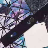 Großes sternenklares Himmel-Muster-rhombische faltende Handtasche (A077)