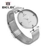 Relógio Ultra-Thin simples dos homens do aço inoxidável do negócio de Belbi