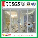 Porte en verre de glissement installée facile