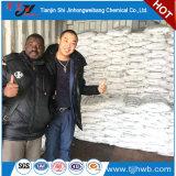 La soda cáustica forma escamas para la materia textil