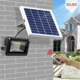 屋外調節可能な明るさは20 LED 10Wの庭のためのリモート・コントロール太陽洪水ライトをかヤードまたはテラス防水する