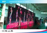El panel de pared video publicitario a todo color de interior flexible de la pantalla de visualización de LED P4 LED