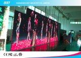 Panneau de mur visuel de publicité polychrome d'intérieur flexible de l'écran P4 DEL d'Afficheur LED