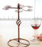 Il classico smonta le cremagliere del supporto di vetro di vino delle bottiglie del ripiano del tavolo 6 del metallo