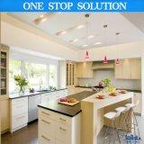 Кухня лака высокой конструкции лоска Handless белая